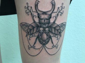 Tattoo Hirschkäfer Permanent Art