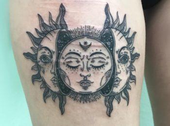 Tattoo Sonne Permanent Art