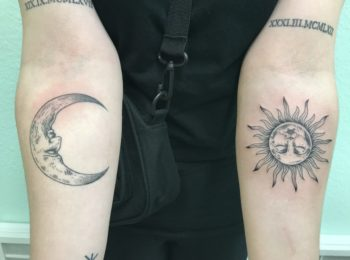 Tattoo Sonne und Mond Permanent Art