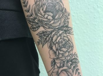 Tattoo Rose Arm Permanent Art