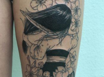 Tattoo Fanart Oberschenkel Permanent Art