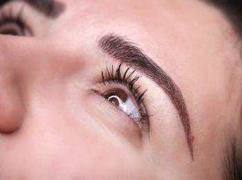Augenbrauen Härchenzeichnung
